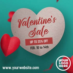 Valentine's Sale Falling Hearts Video