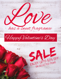 Valentine's sale flyer
