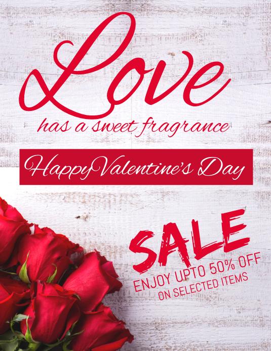 Valentine's sale flyer