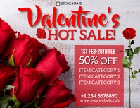 valentine's sale flyer template