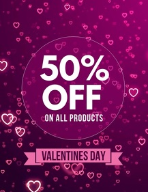 valentine's sale flyers