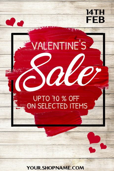 Valentine's sale poster