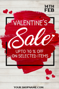 Valentine's sale poster Póster template