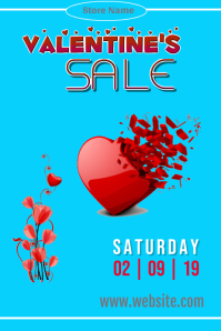 Valentine's Sale Poster Template