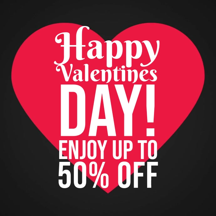 Valentine's sale promotion video