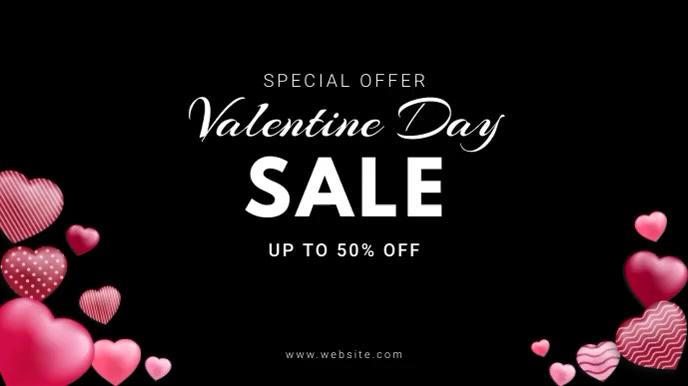Valentine's sale video Pantalla Digital (16:9) template