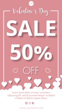 Valentine's Sales Ecrã digital (9:16) template