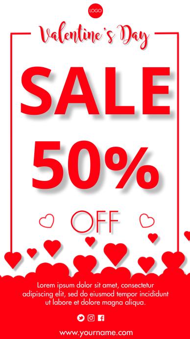 Valentine's Sales Tampilan Digital (9:16) template
