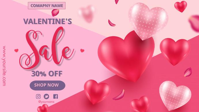 Valentine's Sales Presentación (16:9) template