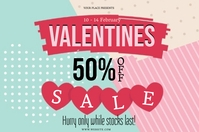 valentine's STORE SALE Event Flyer Template Banner 4' × 6'