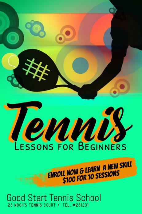 Tennis lessons template