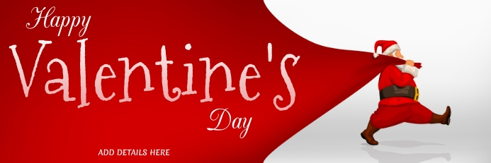 Valentine's Template Spanduk 2' × 6'