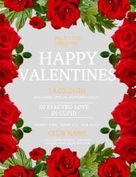 Valentine's video, valentine, valentine party 传单(美国信函) template