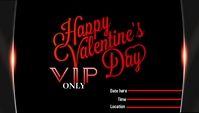 Valentine's VIP Card template