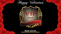 Valentine's VIP Card 名片 template