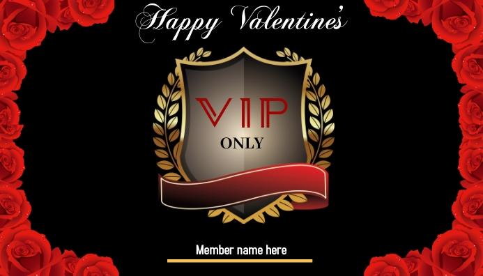Valentine's VIP Card Cartão de visita template