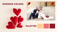Valentine's Wedding Color Palettes Templates Intestazione blog