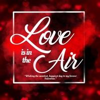 Valentine, love ,romantic Square (1:1) template