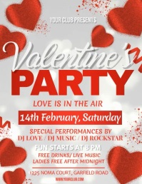 valentine, valentine's day, valentines video Flyer (Letter pang-US) template