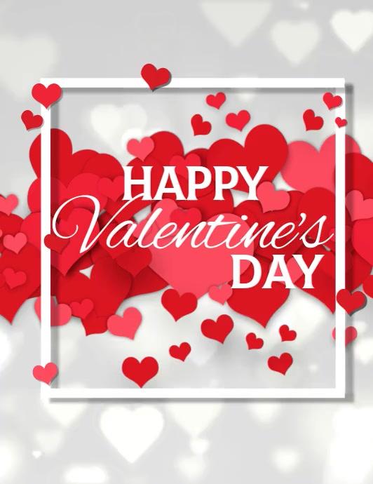 valentine, valentine's day, valentines video Løbeseddel (US Letter) template