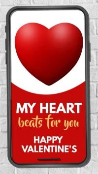 valentine, valentine's day, valentines video Instagram na Kuwento template