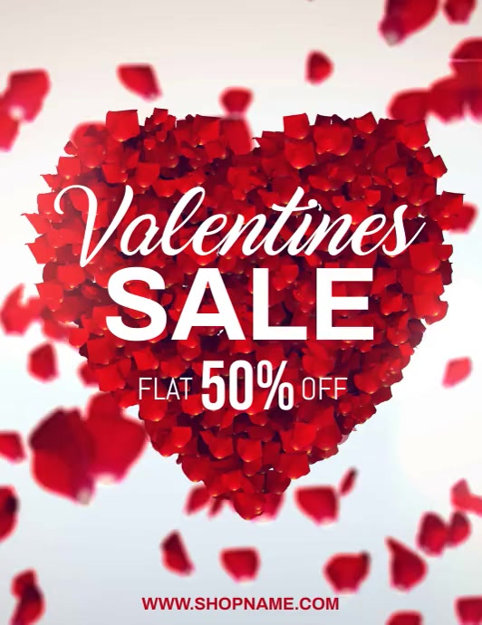 valentine, valentine's sale, valentines video Folder (US Letter) template