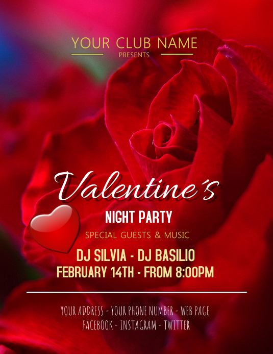 Valentine´s party day