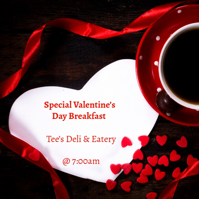 Valentine's Day Breakfast Template