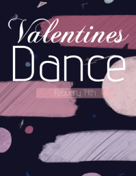 Valentine's Day dance Flyer template