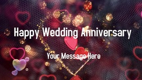 Wedding Anniversary Card Vidéo de couverture Facebook (16:9) template