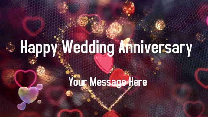 Wedding Anniversary Card Vídeo de portada de Facebook (16:9) template