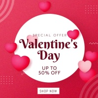 Valentine's Day Sale Instagram Post template