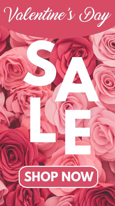 Valentine's Day sale instagram story template