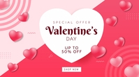 Valentine's Day Sale Twitter Post Twitter-opslag template