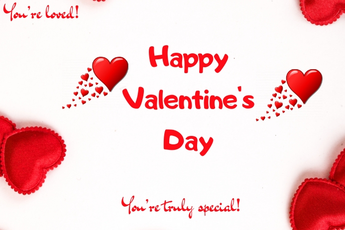 Valentine's Day Template Affiche
