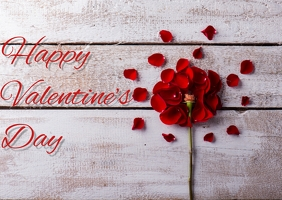 Valentine's Day Template Carte postale