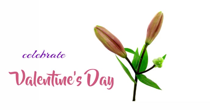 Valentine's FB animation Capa para evento do Facebook template