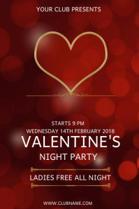 valentine poster template, event flyer template