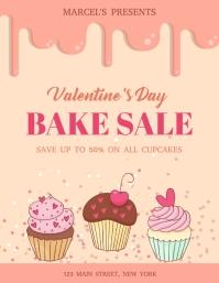 Valentine Bake sale Flyer template