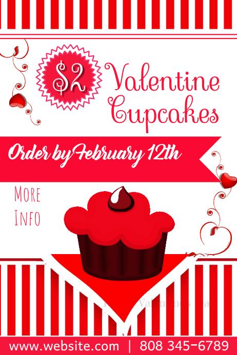 Valentine Bake Sale Poster Template