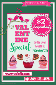 Valentine Bake Sale Poster Template