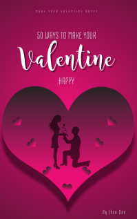 VALENTINE BOOK COVER TEMPLATE