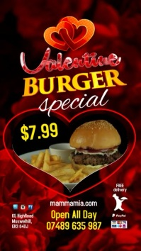 Valentine Burger Menu