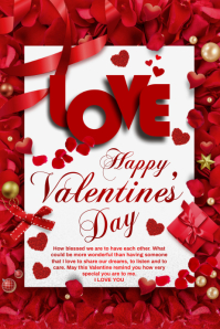valentine card Iphosta template