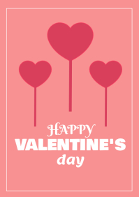 Valentine Card A4 template