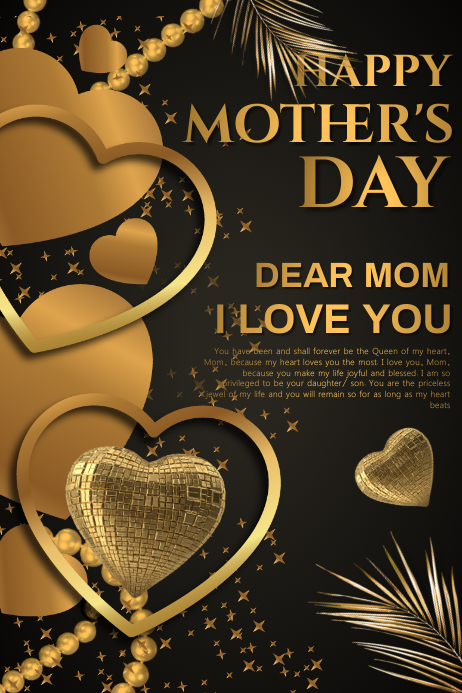 Mothers day card Banner 4 × 6 Fuß template