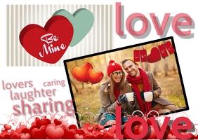 Valentine card Poskaart template