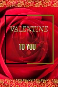 VALENTINE card flyer,online card template
