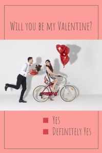 Valentine card Poster template