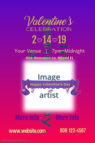 Valentine Celebration Poster Template